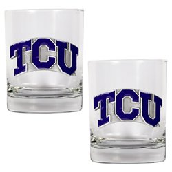 Great American Products Texas Christian University 14 oz. Rocks Glasses 2-Pack