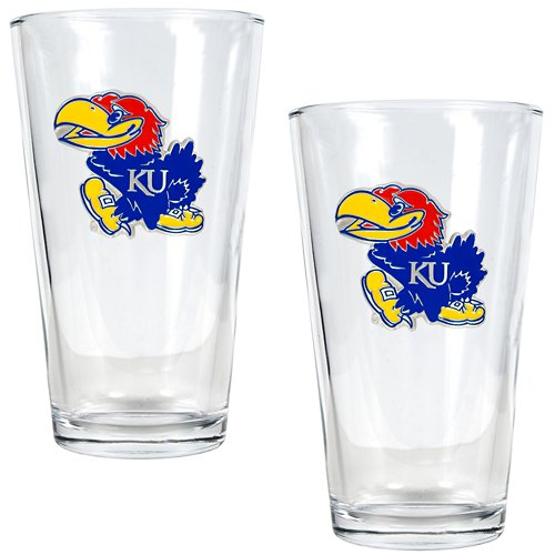 Great American Products University of Kansas 16 oz. Pint Glasses 2-Pack