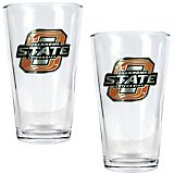 Great American Products Oklahoma State University 16 oz. Pint Glasses 2-Pack