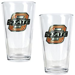 Oklahoma State University 16 oz. Pint Glasses 2-Pack