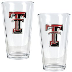 Texas Tech University 16 oz. Pint Glasses 2-Pack