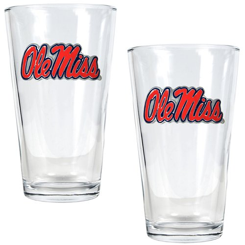 Great American Products University of Mississippi 16 oz. Pint Glasses 2-Pack
