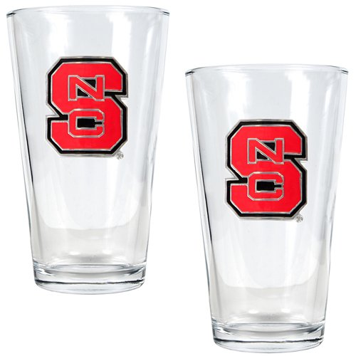 Great American Products North Carolina State University 16 oz. Pint Glasses 2-Pack