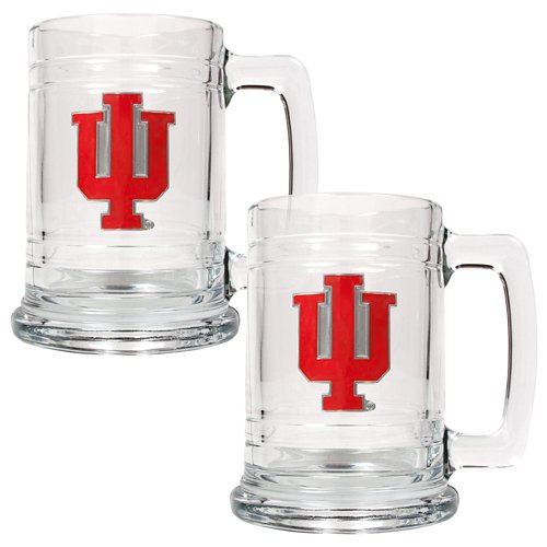 Great American Products Indiana University 15 oz. Glass Tankards 2-Pack