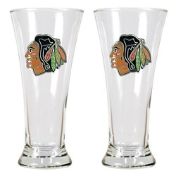 Chicago Blackhawks 19 oz. Pilsner Glasses 2-Pack