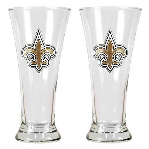 Great American Products New Orleans Saints 19 oz. Pilsner Glasses 2-Pack