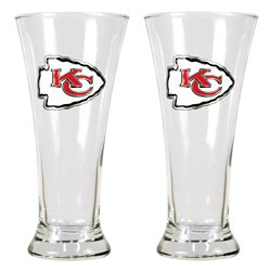 Great American Products Kansas City Chiefs 19 oz. Pilsner Glasses 2-Pack