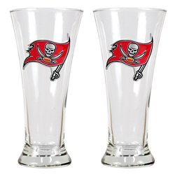 Great American Products Tampa Bay Buccaneers 19 oz. Pilsner Glasses 2-Pack