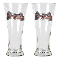 Great American Products Atlanta Braves 19 oz. Pilsner Glasses 2-Pack