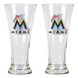 Great American Products Miami Marlins 19 oz. Pilsner Glasses 2-Pack