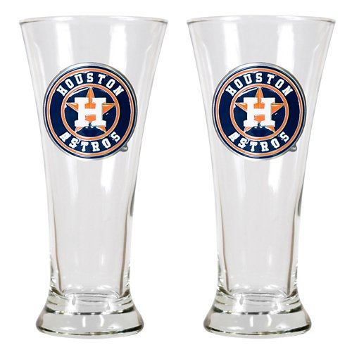 Great American Products Houston Astros 19 oz. Pilsner Glasses 2-Pack