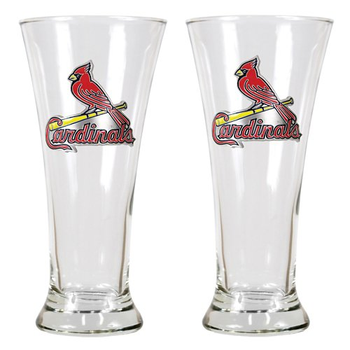 Great American Products St. Louis Cardinals 19 oz. Pilsner Glasses 2-Pack