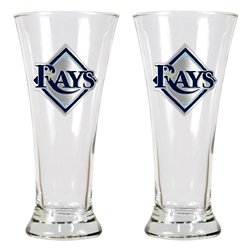 Great American Products Tampa Bay Rays 19 oz. Pilsner Glasses 2-Pack