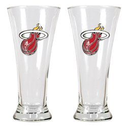 Great American Products Miami Heat 19 oz. Pilsner Glasses 2-Pack