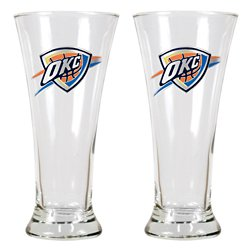 Great American Products Oklahoma City Thunder 19 oz. Pilsner Glasses 2-Pack