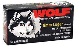 9mm 115-Grain Full Metal Jacket Centerfire Handgun Ammunition