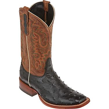46d6b46f856 Nocona Boots Men's Premium Full-Quill Ostrich Western Boots