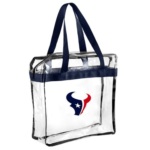 Team Beans Houston Texans Clear Messenger Bag