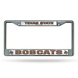 Rico Texas State University Chrome License Plate Frame