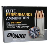 SIG SAUER V-Crown 9mm 115-Grain Jacketed Hollow Point Centerfire Handgun Ammunition