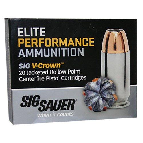 SIG SAUER V-Crown 9mm 115-Grain Jacketed Hollow Point Centerfire Handgun Ammunition