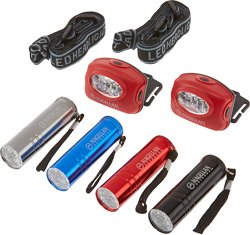 Magellan Outdoors Headlamp and Flashlight Multipack