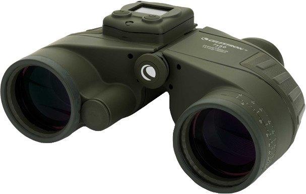 Celestron Cavalry 7 x 50 Binoculars with GPS, Digital Compass and Reticle