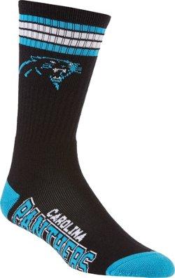 For Bare Feet Adults' Carolina Panthers 4-Stripe Deuce Socks