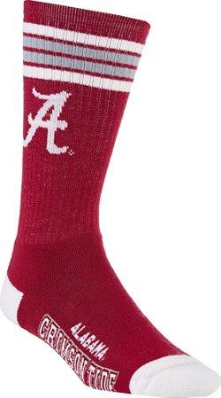 For Bare Feet Adults' University of Alabama 4-Stripe Deuce Socks