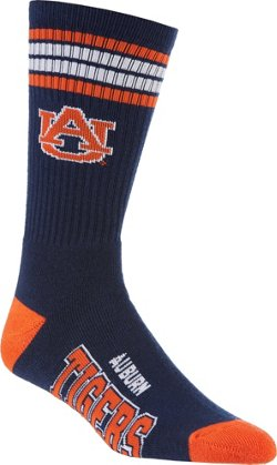 For Bare Feet Adults' Auburn University 4-Stripe Deuce Socks
