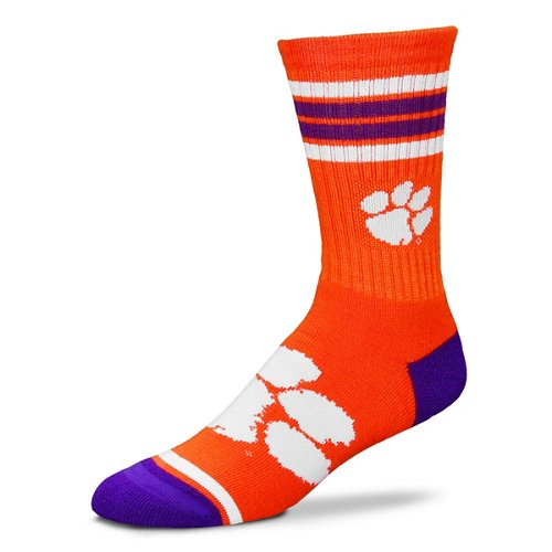 For Bare Feet Adults' Clemson University 4-Stripe Deuce Socks