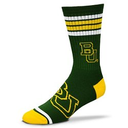 For Bare Feet Adults' Baylor University 4-Stripe Deuce Socks