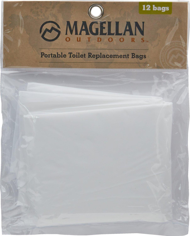 Magellan Outdoors Jon Bag Portable Toilet Replacement Bags 12 Pack