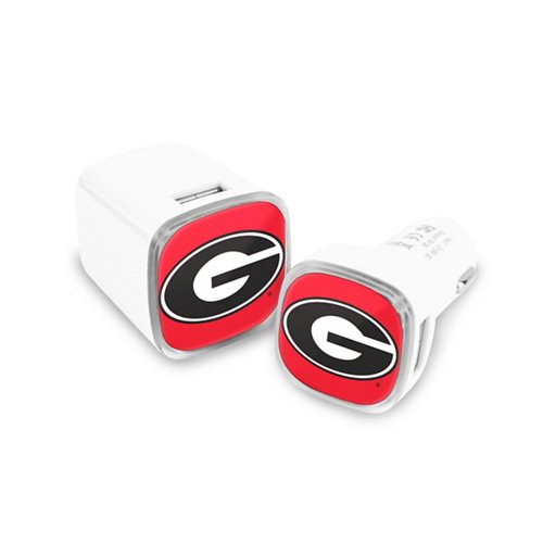 Mizco University of Georgia USB Chargers 2-Pack