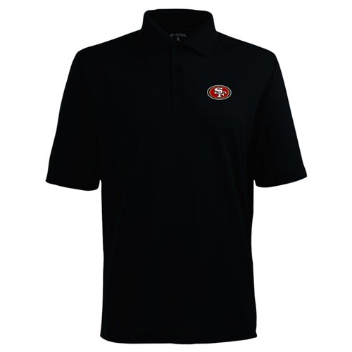 001219261 Antigua Men s San Francisco 49ers Piqué Xtra-Lite Polo Shirt