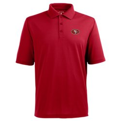 Antigua Men's San Francisco 49ers Piqué Xtra-Lite Polo Shirt