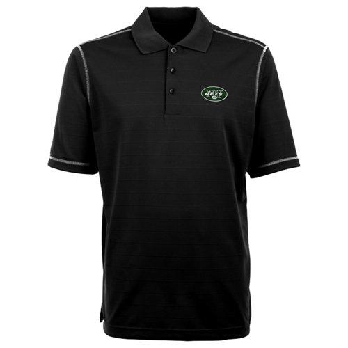 Antigua Men's New York Jets Icon Short Sleeve Polo Shirt
