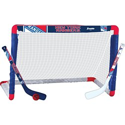 Franklin New York Rangers Mini Hockey Goal Set