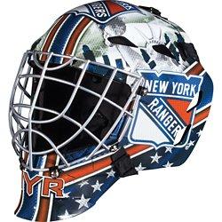 Franklin Boys' New York Rangers GFM 1500 Goalie Face Mask