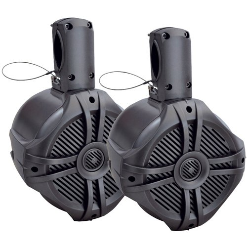 Power Acoustik 500W Marine-Grade 6-1/2' Wake Tower Enclosure and Speakers (Pair)