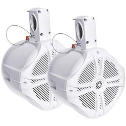 """Power Acoustik 750W Marine-Grade Wake Tower Enclosure with Two 8"""" Speakers"""