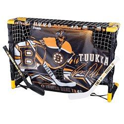 Franklin Boston Bruins Tuukka Rask Mini Hockey Goal and Target Set