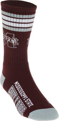 For Bare Feet Adults' Mississippi State University 4-Stripe Deuce Socks