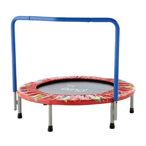 Pure Fun Kids' 36 in Trampoline with Handrail