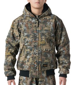 Walls Kids' Oilfield Camo Insulated Hooded Jacket