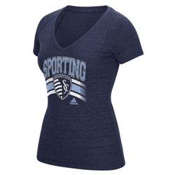 adidas™ Women's Sporting Kansas City Middle Logo Stripe T-shirt