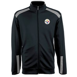Antigua Men's Pittsburgh Steelers Flight Jacket