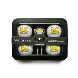 Team Golf University of Michigan 4-Ball Tin Gift Set