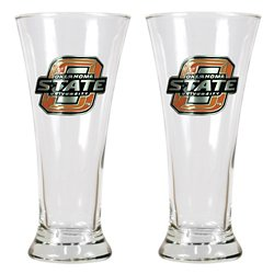 Great American Products Oklahoma State University 19 oz. Pilsner Glasses 2-Pack