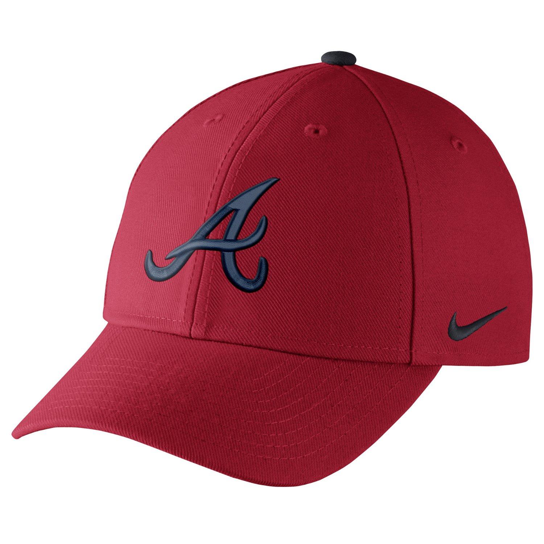 Nike™ Adults  Atlanta Braves Dri-FIT Classic Swoosh Flex Cap  8504aed4931